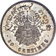 50 Centimes - Norodom I – reverse