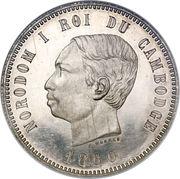 4 Francs - Norodom I – obverse