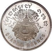 4 Francs - Norodom I – reverse