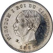 50 Centimes - Norodom I (Essai) – obverse