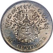 50 Centimes - Norodom I (Essai) – reverse