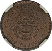 5 Centimes - Norodom I (Essai) – reverse