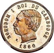 4 Francs - Norodom I (Essai) – obverse