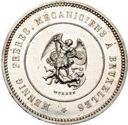 1 Piastre - Norodom I (Pattern) – reverse