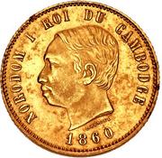 4 Francs - Norodom I (Pattern) – obverse