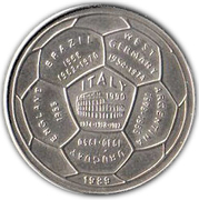 4 Riels (World Soccer Championship) – reverse