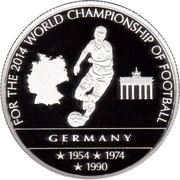 100 Francs (World Championship of Football) – reverse