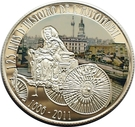 100 Francs (125th Anniversary - Invention Of Automobile By Carl Benz) – reverse