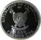 1000 Francs CFA (Cross-River Gorilla; Silver Bullion Coinage) – obverse