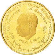 1000 Francs (10th Anniversary of Independence) – obverse