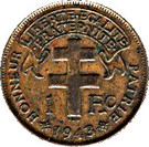 """1 Franc (with """"LIBRE"""") – reverse"""