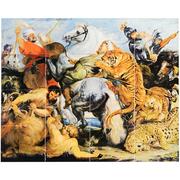 5000 Francs (Tiger Hunt) – reverse