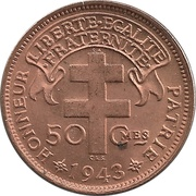 "50 Centimes (with ""LIBRE"") – reverse"