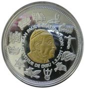100 Francs (Pope John Paul II beatification) – reverse