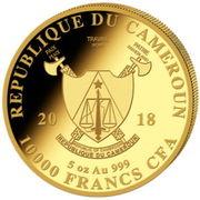10 000 Francs - Elephant (big five) -  obverse