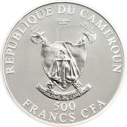 500 Francs CFA (Aquarius) – obverse