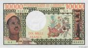 10,000 Francs – obverse