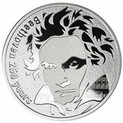 250 Francs CFA (Beethoven 250 years) – reverse