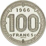 Cameroon 100 Francs 1966 - Essai – reverse