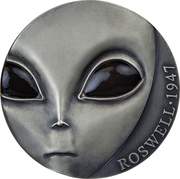 3000 Francs CFA  (Roswell Incident) – reverse