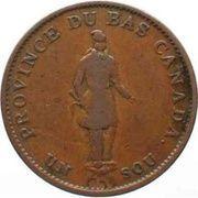 ½ Penny / 1 Sou (People's Bank) – obverse