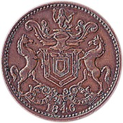 ½ Penny - Rutherford (Harbour Grace) – obverse