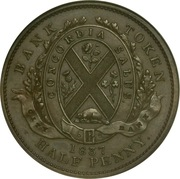 ½ Penny / 1 Sou (City Bank) -  reverse