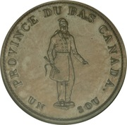 ½ Penny / 1 Sou (City Bank) -  obverse