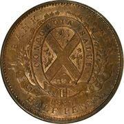 ½ Penny / 1 Sou (Quebec Bank) – reverse
