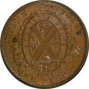 1 Penny / 2 Sous (Quebec Bank) -  reverse