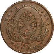 ½ Penny - Bank of Montreal – reverse