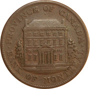 ½ Penny - Bank of Montreal – obverse