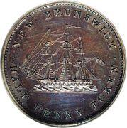 ½ Penny Token - Victoria – reverse