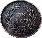 1 Sou (Birmingham - 32 laurel leaves / 2 shamrocks) – reverse