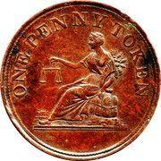 1 Penny token (Thomas Halliday) – reverse
