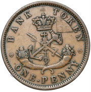 1 Penny - Bank of Upper Canada – reverse