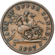 1 Penny - Bank of Upper Canada – obverse