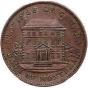 1 Penny - Montréal Bank Token – obverse