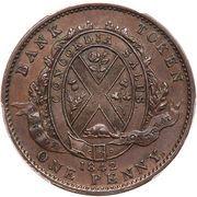 1 Penny - Montréal Bank Token – reverse