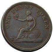 1 Penny Token (Field Marshal Wellington ) – reverse