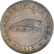 1 Penny (Magdalen island - Sir Issac Coffin) – obverse