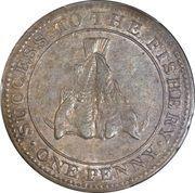1 Penny (Magdalen island - Sir Issac Coffin) – reverse