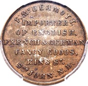 ½ Penny Currency (F. McDermott) – reverse