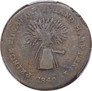 ½ Penny (Commerce & Trade) – obverse