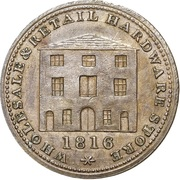 ½ Penny (Wholesale & Retail Hardware Store) – obverse