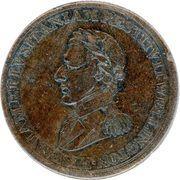 ½ Penny (Wellington Peninsular token to Madrid) – obverse