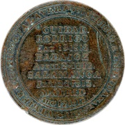 ½ Penny (Wellington Peninsular token to Madrid) – reverse
