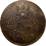 ½ Penny (Ships, Colonies and Commerce) – reverse