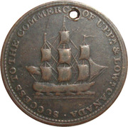 ½ Penny (Sir Isaac Brock) – obverse