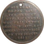 ½ Penny (Sir Isaac Brock) – reverse